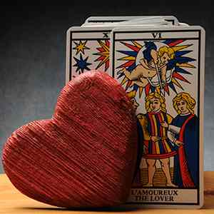 Interactive love tarot